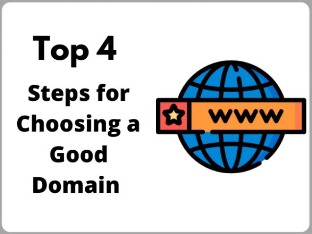 steps for choosing a good domain
