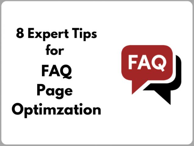FAQ page optimization