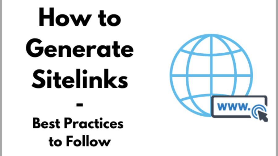how to generate sitelinks